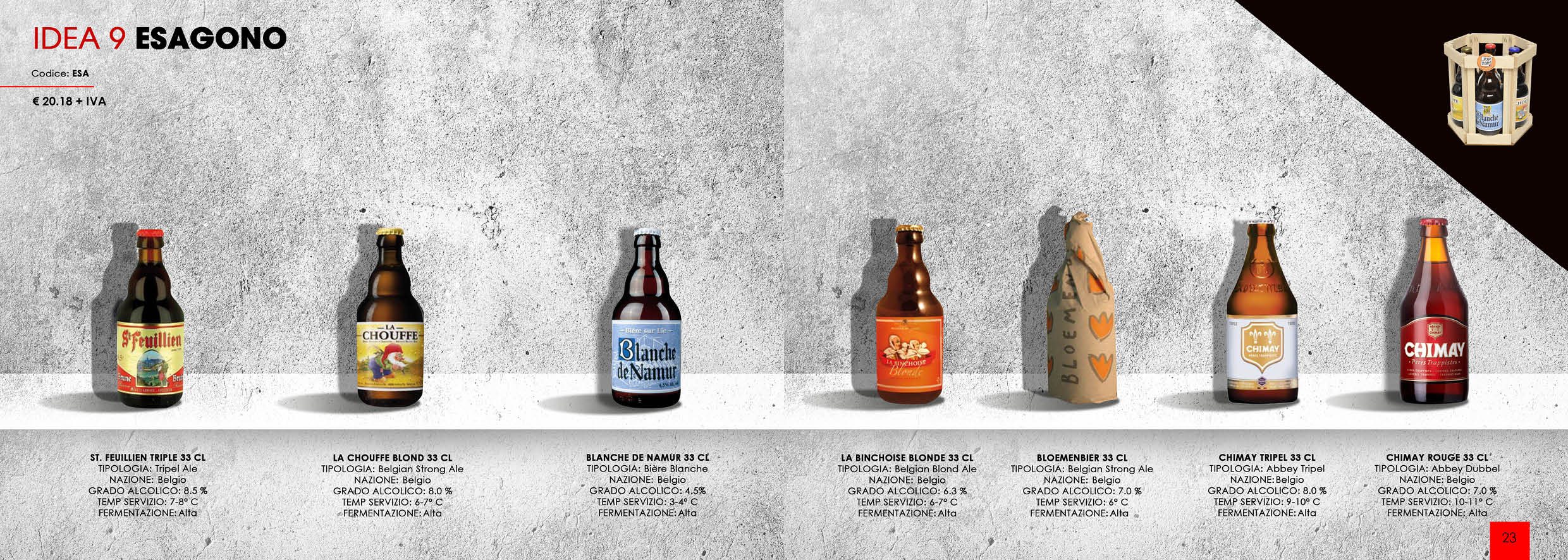 idea regalo esagono birra